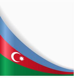 Azerbaijani flag background vector