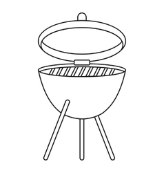 Barbecue icon outline style vector image