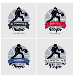 basketball club logo design artwork of vector image