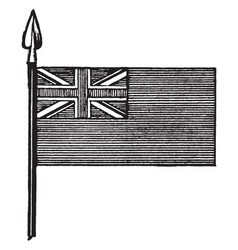 Blue ensign is a flag of great britain vintage vector