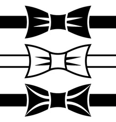 Bow tie black symbols vector