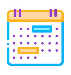 calendar month page sign thin line icon vector image