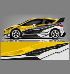 Car decal wrap design vector