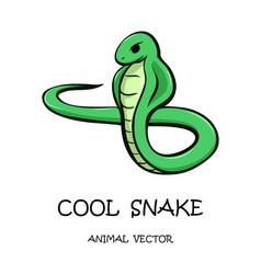 Cartoon a snake vector