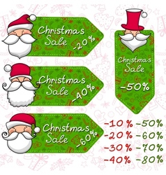 Christmas sale and Santa Claus vector image