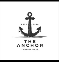 classic vintage retro country emblem anchor vector image