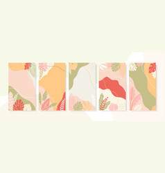 Collection abstract backgrounds with copy vector