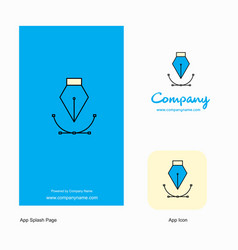 company logo app icon and splash page design vector image
