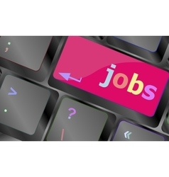 Computer keyboard with JOB enter key - business vector image