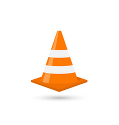 construction traffic cone vector image