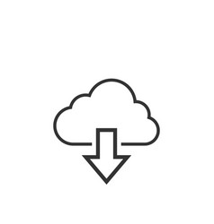 download cloud graphic icon design template vector image