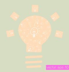 Drawing bulb light vector image