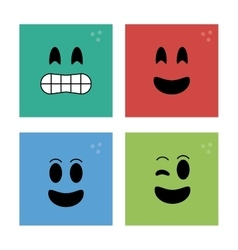 Face design Cartoon icon White background vector image