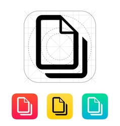 Files icon vector