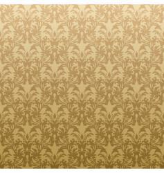 Floral golden wallpaper vector