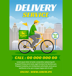 food or parcel delivery bicycle vector image