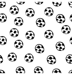 Football balls seamless pattern vector