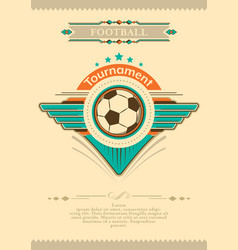 Football placard in vintage style with stars vector