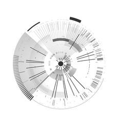 futuristic interface element technology circle vector image