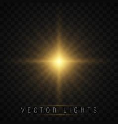 glow light effect vector image