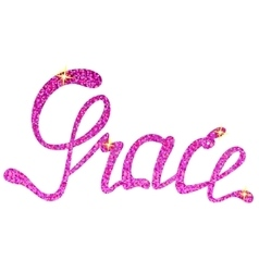 Grace name lettering tinsels vector