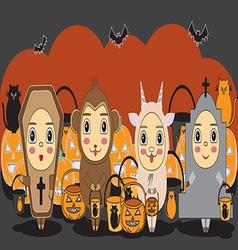 halloween1 vector image
