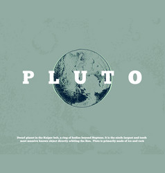 hand drawn planet pluto vector image
