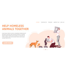 Helping homeless animals banner vector