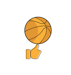 icon basketball on the finger icon vector image