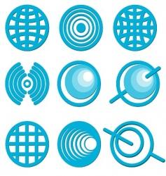 icons globe vector image