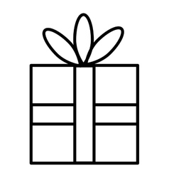 Isolated gift box container graphic vector