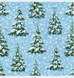 Landscape with christmas trees vector