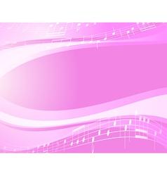 light music wavy background vector image