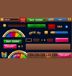 Lobby elements for slots games vector