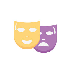 Mardi gras faces celebration masks vector