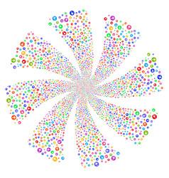 Medical pharmacy fireworks swirl flower vector