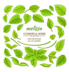 melissa elements set vector image