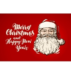 Merry Christmas and Happy New Year banner Santa vector