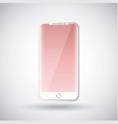 mobile phone gadget technology pink touch screen vector image