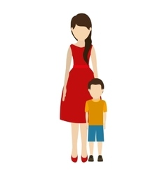 Mother and son design vector