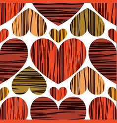 multicolors hearts with stripes vector image