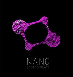 Nanotechnology creative logo design vector