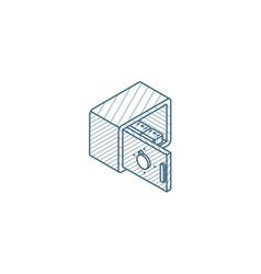 open safe banking secrecy money cash isometric vector image