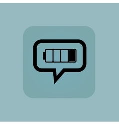 Pale blue low battery message vector