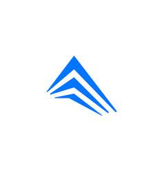 perspective building facade logo icon vector image