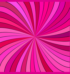 Pink psychedelic abstract spiral stripe vector