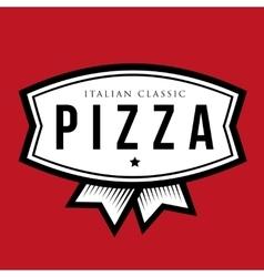 Pizza - Italian Classic vintage logo vector image