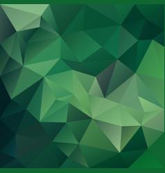 Polygonal square background medium green vector