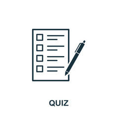 quiz icon symbol creative sign from education vector image
