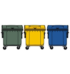 Recycling containers vector image